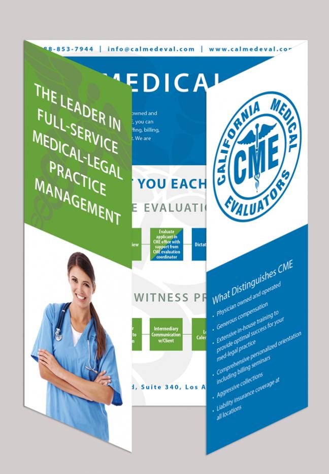 Brochure Design for Medical Evaluators